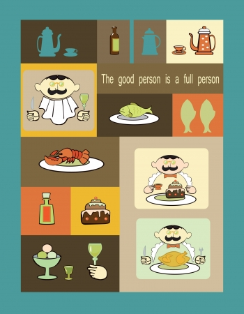 A character set for menu creation Vector