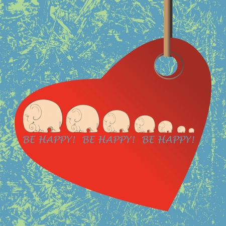 st valentine  s day: Greetings  card for St  Valentine s day   Heart  on  vintage background  Illustration