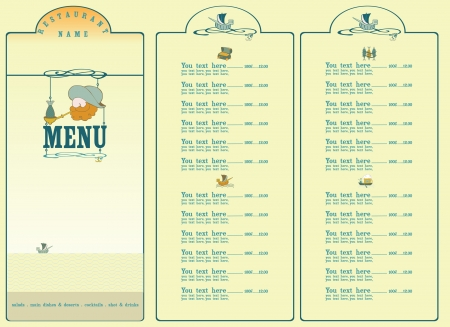 Menu for restaurants or pubs executed in sea style  Vector