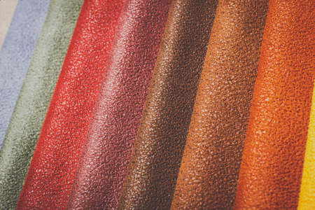 pigskin: Natural variegated leather background closeup Stock Photo