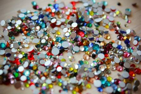 Collection of multicolored rhinestones