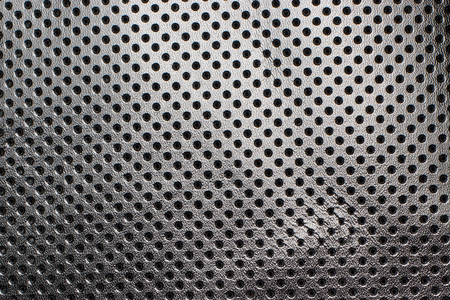 leather texture: Black and white gradient perforated leather texture background