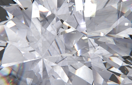 crystal refractions background Banco de Imagens