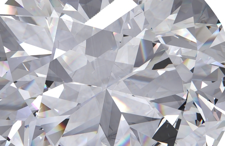 Realistic diamond texture close up, 3D render