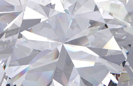 abstract geometric white diamond multi layered background. 3d render model