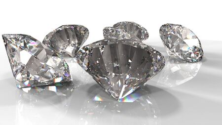 Diamonds jewely on background. High quality 3d render