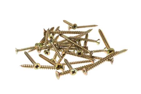 woodscrew: Various screws on a pile as aut .