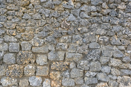 briks: A stone wall with coral briks. You can use it as texture or background Stock Photo
