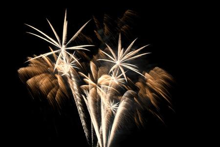 estrella: Una explosi�n de fuegos artificiales de oro en tonos de colores de naranja, blanco y amarillo que se parecen a las palmas.