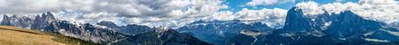 Dolomites Panoramic view of Rasciesa in south Tyrol Italy.