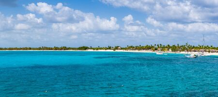 Panorama View of Catalina Island in Dominican Republic Stock Photo