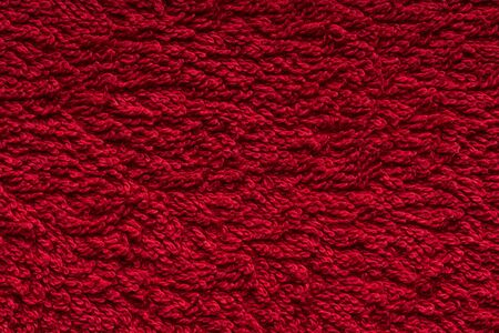 Closeup of red cotoon towel texture Imagens