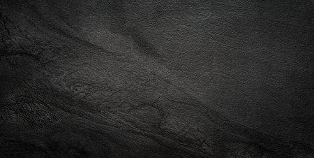 Black wall slate texture rough dark concrete floor Stock Photo
