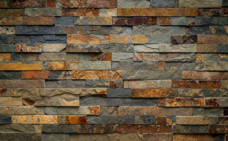 Texture of marble facing bricks chipped Stock Photo