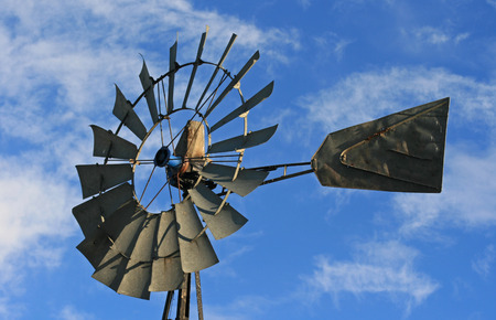 Windmill in Lusk Wyoming in the western USA