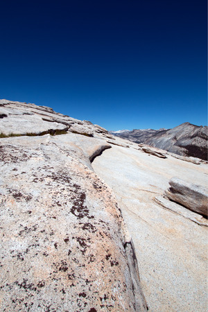 View from the top of Half Dome in Yosemite National Park in California United States Stock Photo