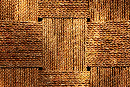 wickerwork: Square wickerwork pattern made of natural material
