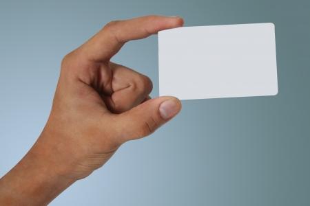 Debit credit card in hand