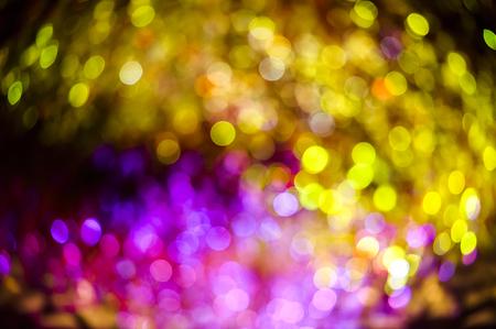 glitzy: Decorative neon lights in soft focus.