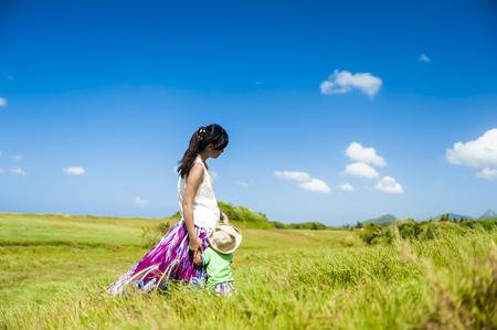 grasslands: Vast grasslands and sky beautiful natural landscape
