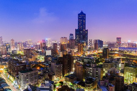 Kaohsiung City Night View Editorial