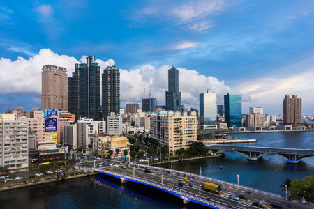 KAOHSIUNG, TAIWAN, MAY 01 2016: Southern located in Taiwan, is a port city, has developed rapidly in recent years, many foreign visitors have come to play in Kaohsiung.