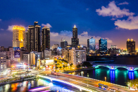 come in: KAOHSIUNG, TAIWAN, MAY 01 2016: Southern located in Taiwan, is a port city, has developed rapidly in recent years, many foreign visitors have come to play in Kaohsiung.