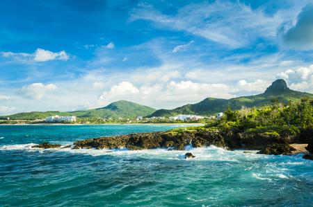 美しく自然な景色海岸岩や墾丁の空