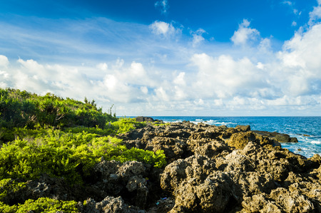 Beautiful natural landscape coast rocks and sky in kenting