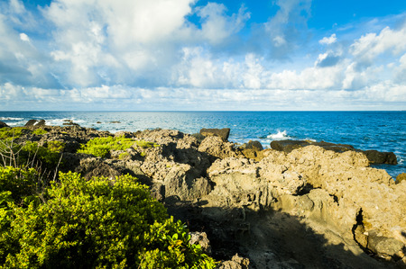 over the edge: Beautiful natural landscape coast rocks and sky in kenting