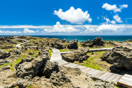 Beautiful natural landscape coast rocks and sky in kenting Reklamní fotografie - 81202146