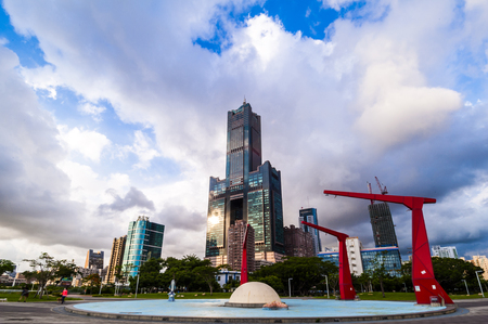 come in: KAOHSIUNG, TAIWAN, 11 JUNE 2017: Southern located in Taiwan, is a port city, has developed rapidly in recent years, many foreign visitors have come to play and 11 JUNE 2017 in Kaohsiung.