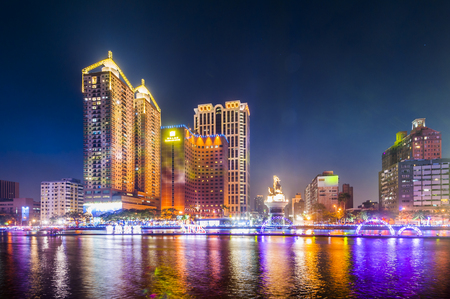 Kaohsiung loves the river Banco de Imagens