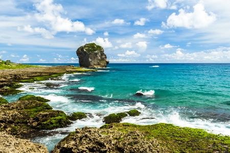Rocky Coast along the Pacific Ocean, Kenting, Taiwan Stock Photo