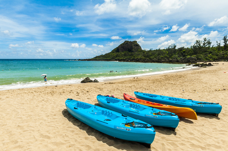 landscape of xiaowan beach at kenting, taiwan Stock Photo