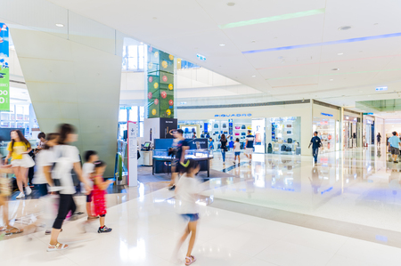 KAOHSIUNG- TAIWAN, 30 July 2017: Taiwan has many large department stores, a lot of people will come to this holiday shopping to buy things to spend a day off, 30 July 2017 in Kaohsiung, Taiwan
