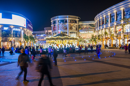 KAOHSIUNG - TAIWAN, 3 JANUARY 2017:Taiwan has many large department stores, a lot of people will come to this holiday shopping to buy things to spend a day off, 3 JANUARY 2017 in KAOHSIUNG ,Taiwan Editorial