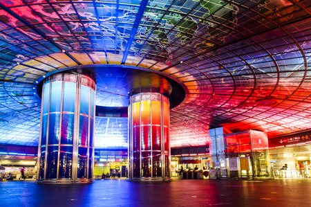 Kaohsiung, Taiwan - January 05, 2016: The Dome of Light at Formosa Boulevard Station, the central station of Kaohsiung subway system in Kaohsiung City.