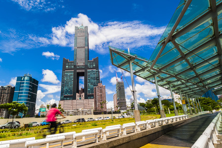 KAOHSIUNG, TAIWAN, 11 JANUARY 2017: Southern located in Taiwan, is a port city, has developed rapidly in recent years, many foreign visitors have come to play and 11 JANUARY 2017 in Kaohsiung. Editorial