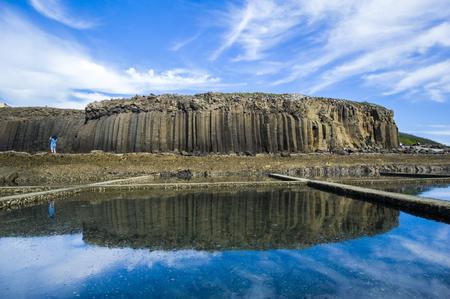 Basalto de Tongpan en las islas Penghu, Taiwán.