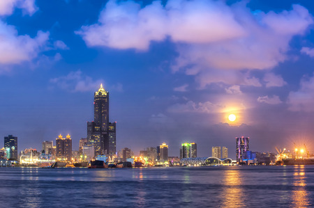 Night view of the city in Taiwan - Kaohsiung 스톡 콘텐츠