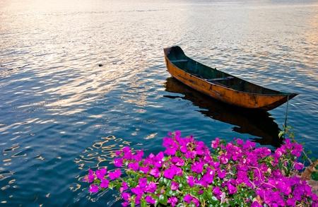 Lakeside village in the Dali Yunnan China