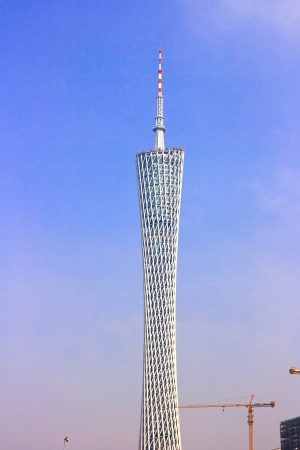 The Guangzhou Tower  600 m ,It is a TV tower,The China s first tower  located at new city axis intersection ,Guangzhou