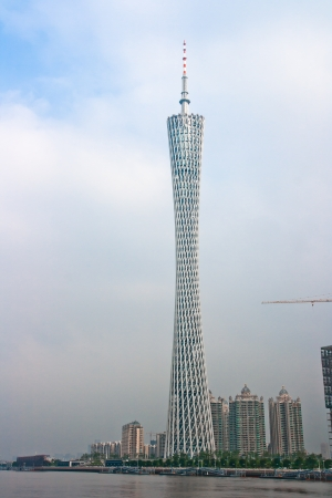 The Guangzhou Tower  600 m ,It is a TV tower,The China s first tower  located at new city axis intersection ,Guangzhou Publikacyjne