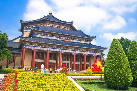 yat sen: Sun Yat-sen Memorial Hall in Guangzhou, China