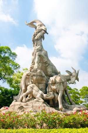 Five Goat Statue is the symbol of Guangzhou, much like the Statue of Liberty in New York City  Guangzhou, Guangdong Province, China