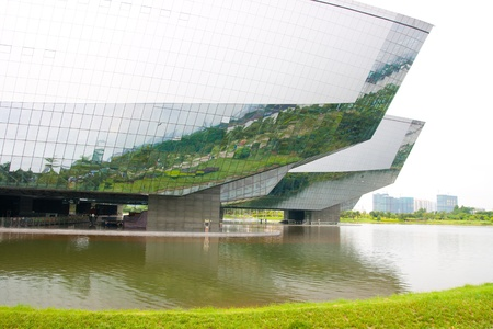 Guangdong Science Center, This is Asia s largest base for science education, International science and technology exchange platform,Guangzhou China Stock Photo - 13627459