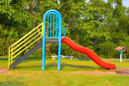 Modern design colorful attractive playground and slide facilities photo