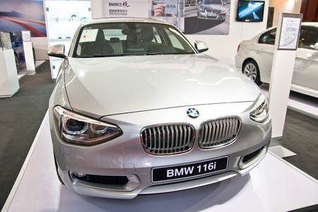 int: BMW 116i car on display at the 2012 Guangzhou daily BaiYun INT L Auto-expo