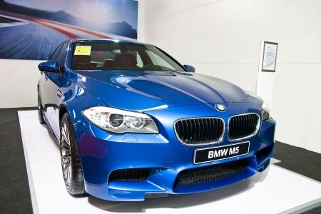 guangzhou: BMW M5 car on display at the 2012 Guangzhou daily BaiYun INT L Auto-expo Editorial